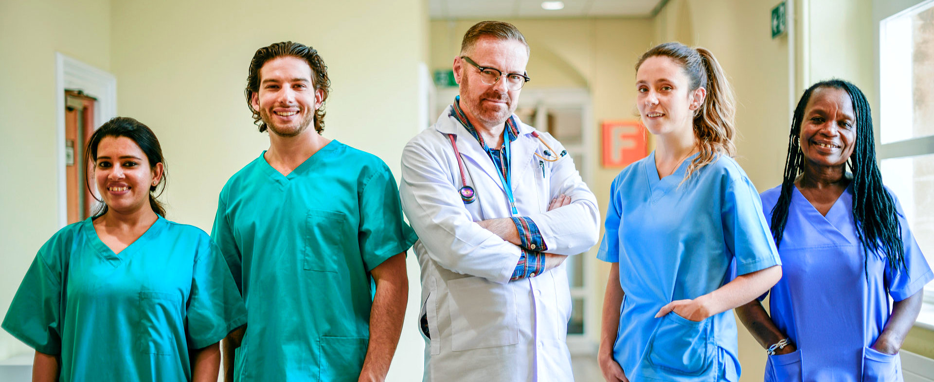 doctor and four nurses